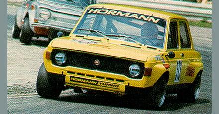 Racing Auto Rims on Fiat 128 Berlina