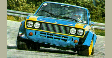 Racing Auto Rims on Fiat 128 Coup   Sl
