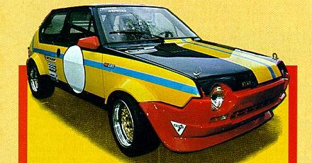 Racing Auto Rims on Fiat Ritmo